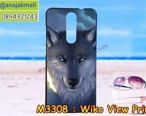 M3308-28 เคสยาง Wiko View Prime ลาย Wolf