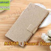 M3568-02 เคสฝาพับ Huawei Nova Plus สีทอง