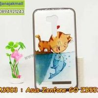 M3583-01 เคสยาง Asus Zenfone GO-ZB551KL ลาย Cat & Fish
