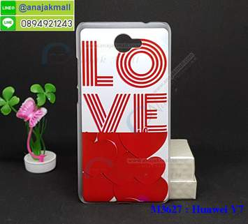 M3627-01 เคสแข็ง Huawei Y7 ลาย Love X12