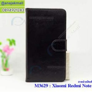 M3629-02 เคสฝาพับไดอารี่ Xiaomi Redmi Note 5a สีดำ