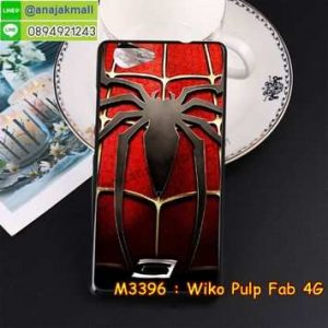 M3396-10 เคสยาง Wiko Pulp Fab 4G ลาย Spider