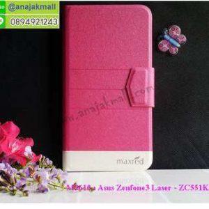M3610-03 เคสหนัง Asus Zenfone3 Laser-ZC551KL สีชมพู