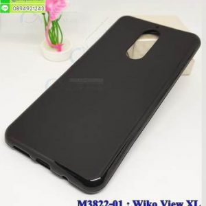 M3822-01 เคสยาง Wiko View XL สีดำ