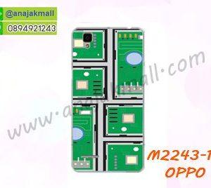 M2243-17 เคสยาง OPPO F1 ลาย Circuit