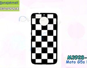 M3928-04 เคสแข็งดำ Moto G5s Plus ลาย Square X01