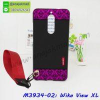 M3934-02 เคสยาง Wiko View XL ลาย Pink Luxury พร้อมสายคล้องมือ