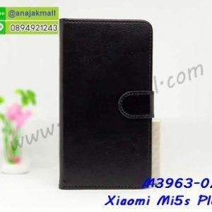 M3963-02 เคสฝาพับไดอารี่ Xiaomi Mi5s Plus สีดำ