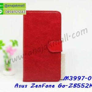 M3997-01 เคสฝาพับไดอารี่ Asus ZenFone Go-ZB552KL สีแดงเข้ม