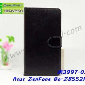 M3997-02 เคสฝาพับไดอารี่ Asus ZenFone Go-ZB552KL สีดำ