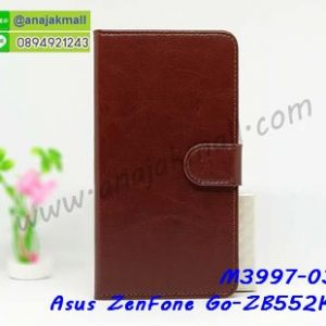 M3997-03 เคสฝาพับไดอารี่ Asus ZenFone Go-ZB552KL สีน้ำตาล
