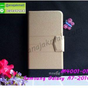 M4001-01 เคสหนังฝาพับ Samsung Galaxy A7 2016 สีทอง