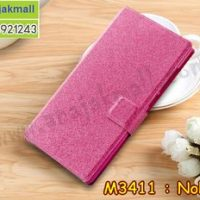 M3411-04 เคสหนังฝาพับ Nokia 8 สีชมพู