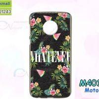 M4016-04 เคสยาง Moto G6 Plus ลาย Flower X01