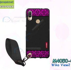 M4050-06 เคสยาง Wiko View2 Pro ลาย Pink Luxury พร้อมสายคล้องมือ