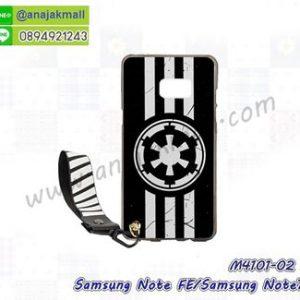 M4101-02 เคสยาง Samsung Galaxy NoteFE/Note7 ลาย Black 02 พร้อมสายคล้องมือ