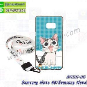 M4101-06 เคสยาง Samsung Galaxy NoteFE/Note7 ลาย CiCat V01 พร้อมสายคล้องมือ