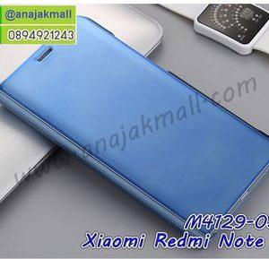 M4129-03 เคสฝาพับ Xiaomi Redmi Note5 เงากระจก สีฟ้า