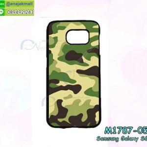 M1787-05 เคสแข็งกรอบดำ Samsung Galaxy S6 ลายพรางทหาร IV