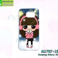 M1787-15 เคสแข็งกรอบขาว Samsung Galaxy S6 ลาย Snow Girl