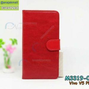 M3319-01 เคสฝาพับไดอารี่ Vivo V5 Plus สีแดง