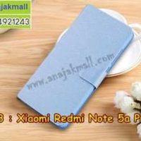 M3413-03 เคสฝาพับ Xiaomi Redmi Note5a Prime สีฟ้า