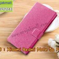 M3413-04 เคสฝาพับ Xiaomi Redmi Note5a Prime สีชมพู
