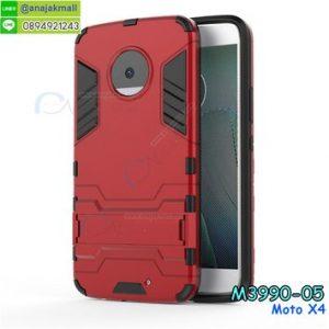 M3990-05 เคสโรบอทกันกระแทก Moto X4 สีแดง