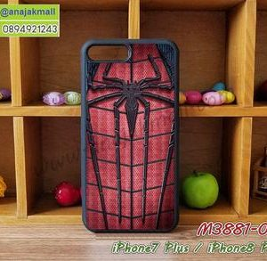 M3881-09 เคสขอบยาง iPhone7 Plus/iPhone8 Plus ลาย Spider V