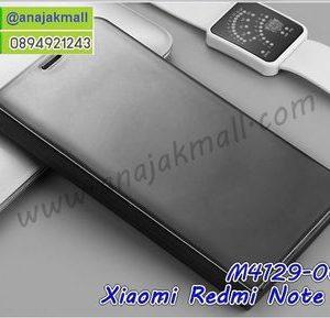M4129-06 เคสฝาพับ Xiaomi Redmi Note5 เงากระจก สีดำ