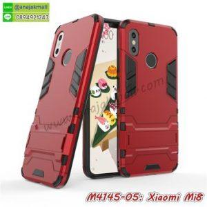 M4145-05 เคสโรบอทกันกระแทก Xiaomi Mi8 สีแดง