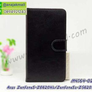 M4164-02 เคสฝาพับไดอารี่ Asus ZenFone5-ZE620KL/ZenFone5z-ZS620KL สีดำ