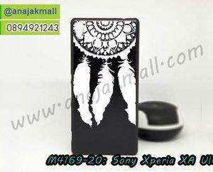 M4169-20 เคสแข็งดำ Sony Xperia XA Ultra ลาย Wool X25