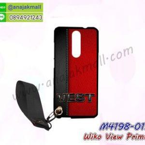 M4198-01 เคสยาง Wiko View Prime ลาย Vest พร้อมสายคล้องมือ