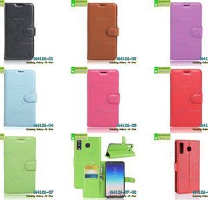 M4126 เคสหนังฝาพับ Samsung Galaxy A8 Star (เลือกสี)