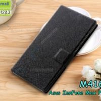 M4162-01 เคสฝาพับ Asus Zenfone Max Plus-M1 สีดำ