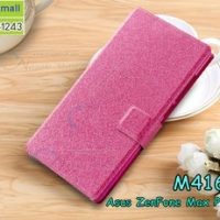 M4162-04 เคสฝาพับ Asus Zenfone Max Plus-M1 สีกุหลาบชมพู