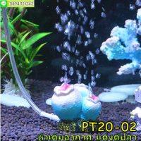 PT20-02 หัวเติมอากาศแต่งตู้ปลา ปะการังสีน้ำเงิน