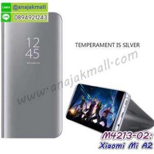 M4213-02 เคสฝาพับ Xiaomi Mi A2 เงากระจก สีเงิน