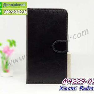 M4229-02 เคสฝาพับไดอารี่ Xiaomi Redmi6 สีดำ