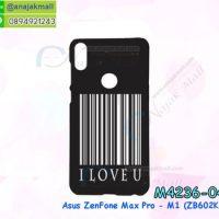 M4236-04 เคสแข็งดำ Asus ZenFone Max Pro-M1 ลาย I Love You