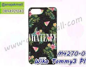 M4270-04 เคสยาง Wiko Tommy3 Plus ลาย Flower X01