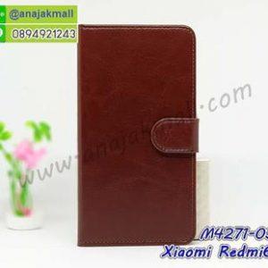 M4271-03 เคสฝาพับไดอารี่ Xiaomi Redmi6a สีน้ำตาล
