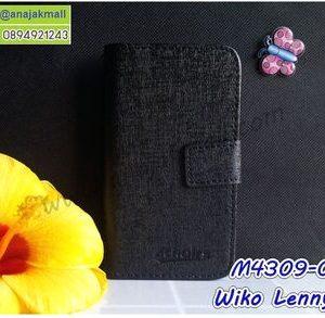 M4309-01 เคสฝาพับ Wiko Lenny5 สีดำ