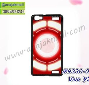 M4330-02 เคสแข็งดำ Vivo Y37 ลาย Circle X01