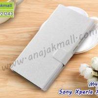 M4338-05 เคสฝาพับ Sony Xperia XA1 Plus สีขาว