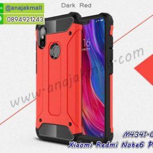 M4341-01 เคสกันกระแทก Xiaomi Redmi Note6 Pro Armor สีแดง