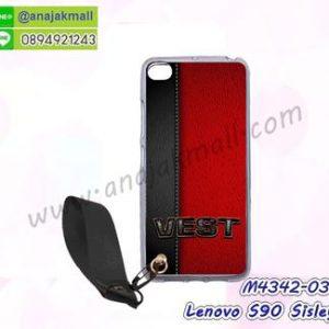 M4342-03 เคสยาง Lenovo S90 Sisley ลาย Vest พร้อมสายคล้องมือ