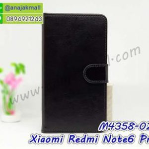 M4358-02 เคสฝาพับไดอารี่ Xiaomi Redmi Note6 Pro สีดำ