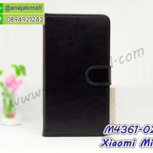 M4361-02 เคสฝาพับไดอารี่ Xiaomi Mi8 สีดำ